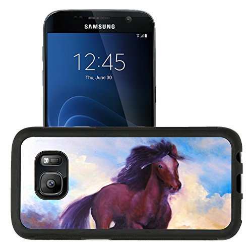 Liili Samsung Galaxy S7 Aluminum Backplate Bumper Snap Case retriver Photo 19682663 Horse jumping this is oil painting on canvas and I am author of this image Photo 959359 (Photo Horse Jumping)