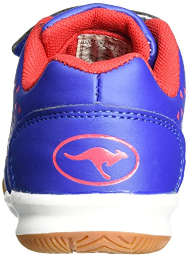 KangaROOS Vander Court V - Zapatillas de casa Unisex Niños Blau (Royal/flame red)