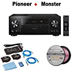 Pioneer Elite Audio & Video Component Receiver black (VSX-LX302) + Monster Home Theater Accessory Bundle + Monster - Platinum XP 50' Compact Speaker Cable Bundle