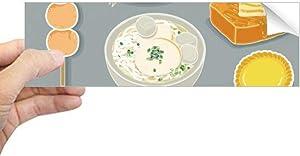 DIYthinker Hong Kong Local Cuisine Food Rectangle Bumper Sticker Notebook Window Decal