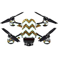 Skin For DJI Spark Mini – Glitzy Chevron | MightySkins Protective, Durable, and Unique Vinyl Decal wrap cover | Easy To Apply, Remove, and Change Styles | Made in the USA