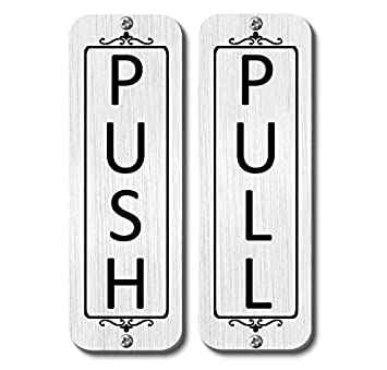 amazon com classic vertical push pull door signs two signs brass
