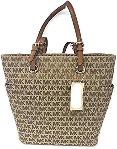 6443b4a4dde8 Michael Kors Jet Set Signature Medium Tote Bag Handbag Beige/Camel/Luggage