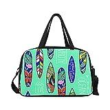 InterestPrint Summer Tropical Flamingo Duffel Bag Travel Tote Bag Handbag Luggage