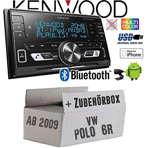 VW Polo 6R - Autoradio Radio Kenwood DPX-M3100BT - 2-Din Bluetooth USB VarioColor Einbauzubehö r - Einbauset JUST SOUND best choice for caraudio VWPo6R_DPX-M3100BT