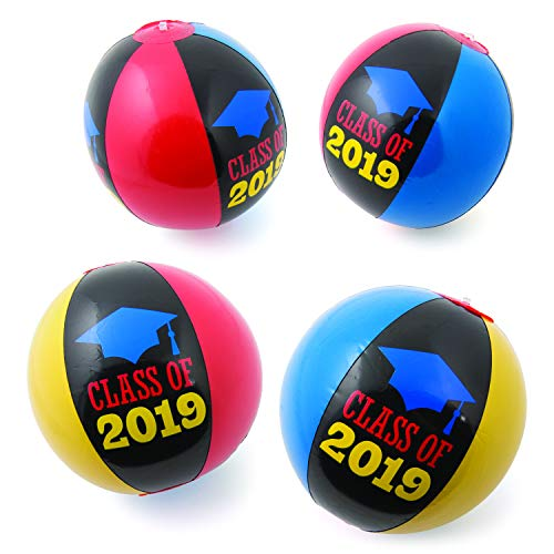 Fun Express - Inflatable Class of 2019 Beach Balls for Graduation - Toys - Inflates - Beach Balls - Graduation - 12 Pieces
