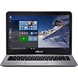 "ASUS VivoBook E403SA-US21 14"" FHD lightweight Laptop, Intel Quad Core 4GB RAM, 128GB eMMC, Win10, Hairline brushed Metal"