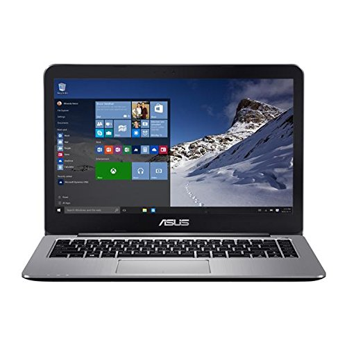 "ASUS VivoBook R416SA-EH21 14"" Full HD Laptop (Quad-Core N3700, 4GB DDR3 RAM, 128GB eMMC, Windows 10), Metallic Gray"
