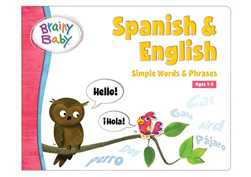Brainy Baby Spanish and English Board Book Simple Words and Phrases Deluxe Edition (Spanish Number Flash Cards compare prices)