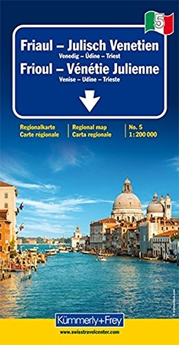 Italien 5. Friaul   Julisch Venetien 1   200 000. Straßenkarte  Kümmerly+Frey Reisekarten