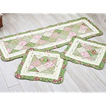 Floral Cotton Area Door Mat Floor Rug Runner Seat Sofa Cushion LivebyCare Doormat Entry Decor Front Entrance Indoor Outdoor Mats Chair Couch Cushions for Kids Boys Girls Children Baby Play Room
