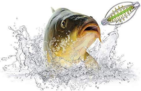 CN/_ Lead Sinker Baits Cage Holder Fishing Trap Basket Feeder Lantern Shape Wir
