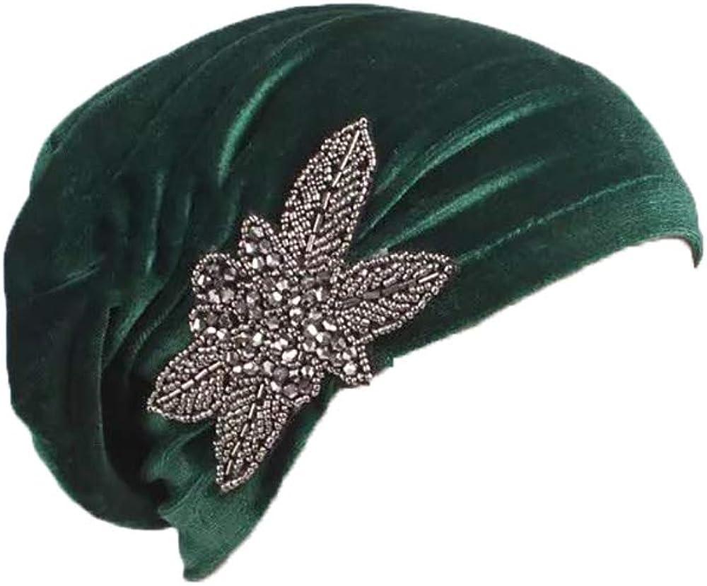 Casquettes Bonnets De Tissu Beanie avec Ornement Turban pour La T/ête De Femme pour Mariage F/ête Cancer Chimio Chimioth/érapie Oncologique Nuit Perte De Cheveux