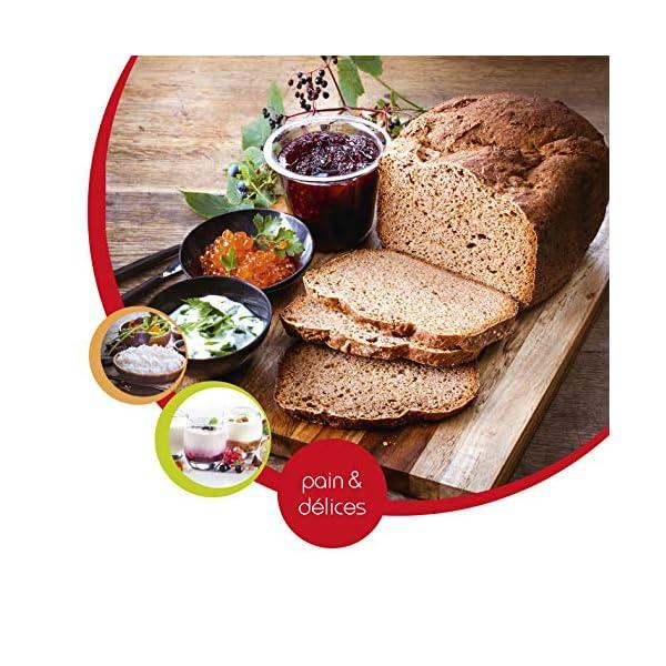 Moulinex OW240E Pain & Delices Macchina del Pane in Acciaio Inossidabile, con Funzione Yogurt, 20 Programmi Automatici… 4