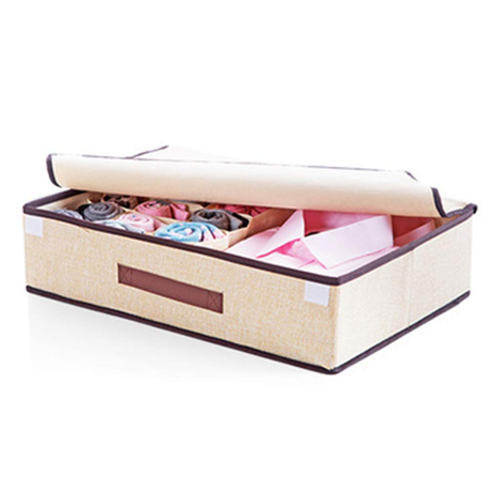 VADOLY Non-Woven Foldable Underwear Organizer Home Storage Box for Bra Socks Multi-Function 16 Grids Drawer Closet Organizers Boxes