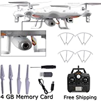 Cewaal X5C-1 2.4Ghz 4CH 6-Axis Gyro RC Quadcopter Drone Helicopters UAV UFO HD 0.3MP Camera 8 Minutes