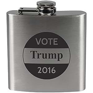 Election 2016 Vote Donald Trump Button Steel Flask