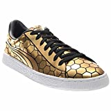 PUMA Men's Basket Classic Metallic Fashion Sneaker, Gold, 10.5 M US