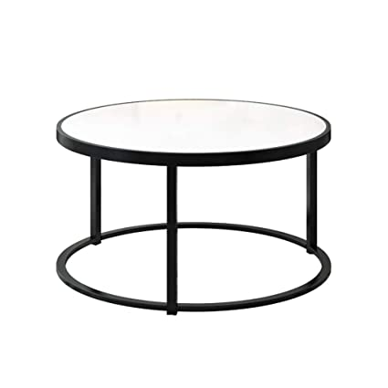 cheap for discount 33bce 6c08c Amazon.com: Living Room Coffee Table Wrought Iron, Tempered ...