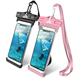 Universal Waterproof Case, Aonlink CellPhone Dry Bag Pouch for iPhone X, 8/7/7 Plus/6S/6/6S Plus, Samsung Galaxy S9/S9 Plus/S8/S8 Plus/Note 8 6 5 4,HTC-[2 Pack]
