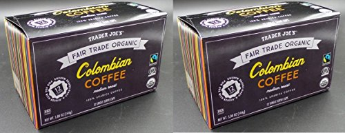 Trader Joe's Biological Columbian Coffee 12 single serve cups (Pack of 2)