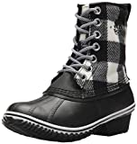SOREL Women's Slimpack 1964 Snow Boot, Black, White, 9 M US