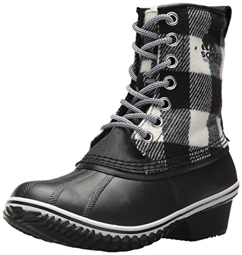 SOREL Women's Slimpack 1964 Snow Boot, Black, White, 8 M US by SOREL