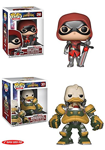 FunkoPOP Marvel Contest Of Champions  Guillotine + Howard The Duck 6  – Super Stylized Video Game Vinyl Bobble-Head 2 Figure Bundle Set NEW