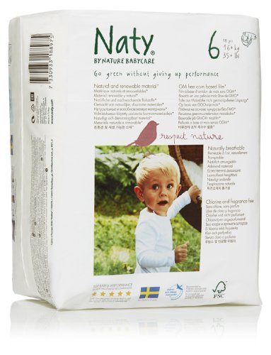 Nature Babycare Eco-Diapers, Size 6, 72 count