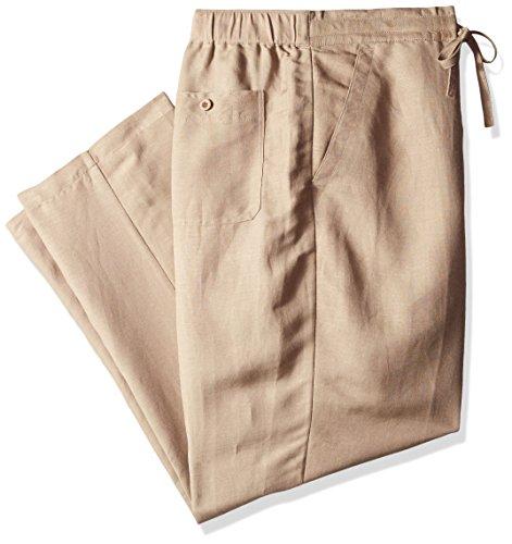 Classic Guayabera - Drawstring Pant with Back Elastic Waistband, Timber Wolf, 4X-Large x 32L (Big)