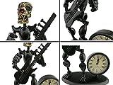 2 in 1 Balck Iron Art Nut And Bolt Skull Music