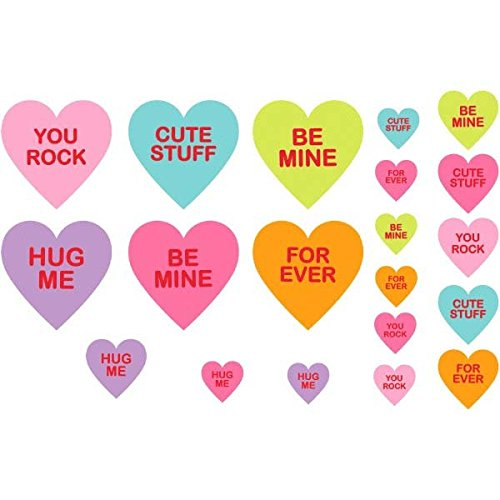 Amazon Com Amscan Blushing Valentine S Day Candy Hearts Printed