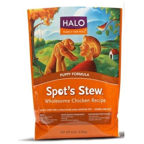 HALO, PURELY FOR PETS 455003 4-Pack Spot's Stew Wholesome Chicken for Puppy, 10-Pound