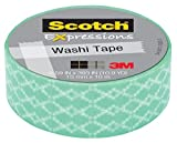 "Scotch Expressions Washi Tape, 5/8"" x 393"", Blue"