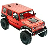 Axial 17 Jeep Wrangler Unlimited Rc Rock Crawler RTR, Red