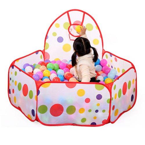UNAKIM--Kids Ball Pit Indoor Outdoor Baby Game Play Tent Children Toy Ocean Balls Pool (Kirkham Outdoor Products)