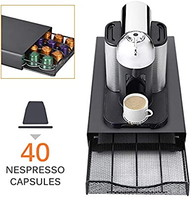 TiooDre Coffee Pod Holder 40 Cápsulas Cajón De Soporte Apilable ...