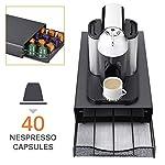 TIEMORE-Cassetto-Portaoggetti-Caffe-Organizer-Per-Capsule-Caffe-40-Pezzi-Cassetto-Durevole-Per-Cialde-Caffe-Supporto-Per-Capsule-Caffe-Per-Nespresso