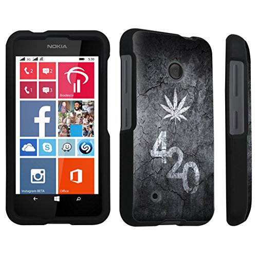 DuroCase Nokia Lumia 530 Hard Case Black - (Leaves 420 Black)