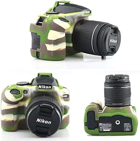 Funda Protectora de Silicona Suave para cámara Nikon D3400: Amazon ...