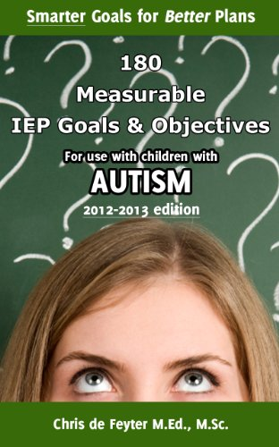 180 SMART Goals and Objectives for use with children with Autism (Special Education SMART Goal Series Book 7)