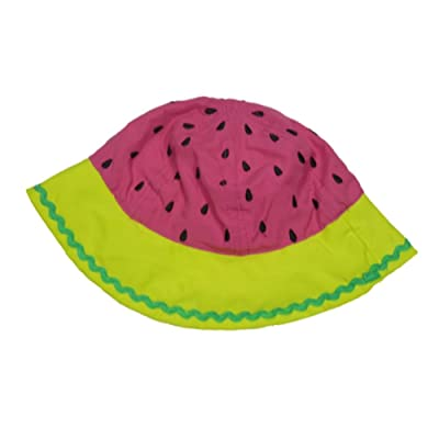 ABG Infant Girls Pink Watermellon Dot Sun Hat Floppy Bucket Cap