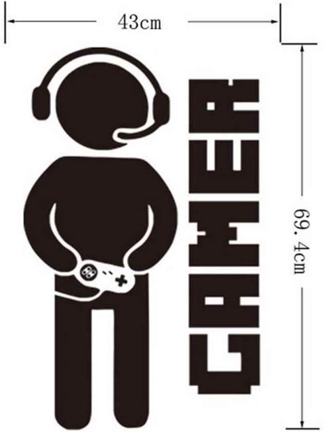 Morelyfish Gamer Wall Sticker Jeu Vid/éo Art Wallpaper Gar/çons Jouer Chambre D/écoration PVC Tattoo Stickers