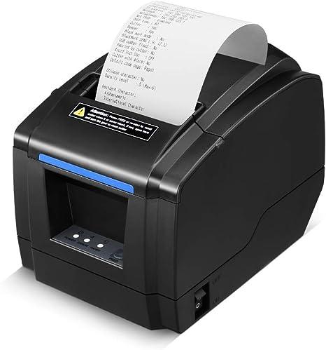 LOSRECAL Thermal Receipt Printer, Restaurant Kitchen Printer of Sound Reminder/Wall-Mount/Auto Cutter, 3 inches 80mm Desktop POS Bill Machine with ...