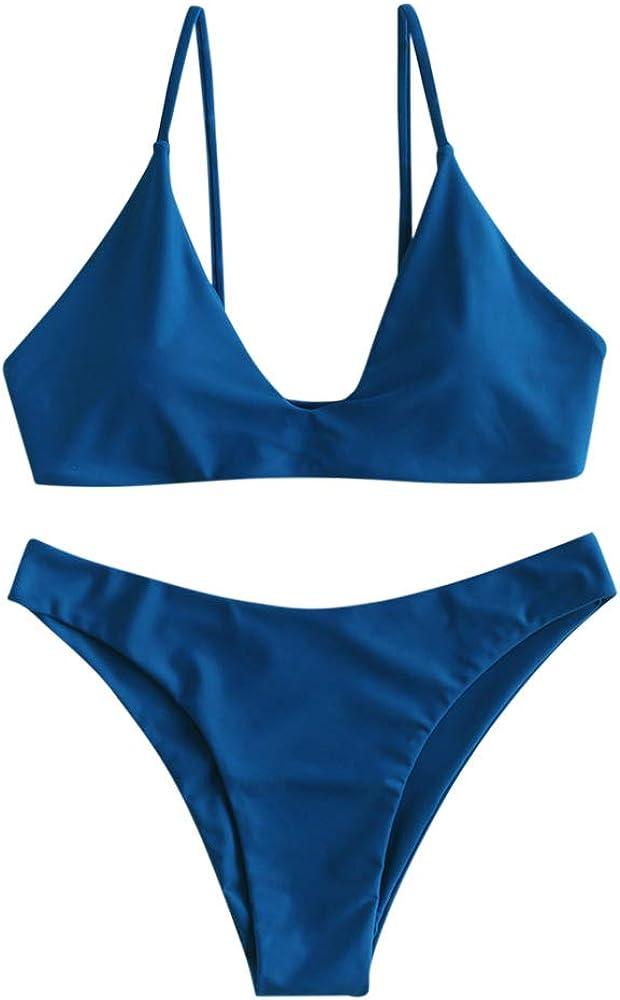 Bikini de corte alto acolchado para mujer ZAFUL