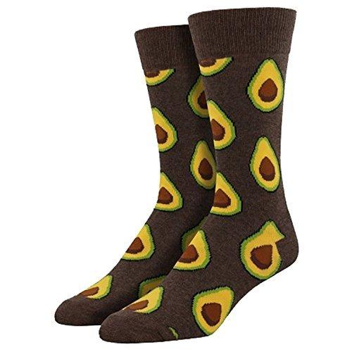 Socksmith Men's Avocado Sock, Heather Brown, Size 10-13