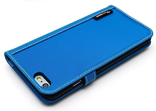LIM's Designer Cordura Innovation Diary Type Case for iPhone 6 Plus (Blue)