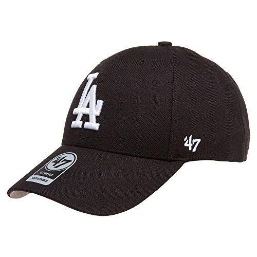 '47 Brand Los Angeles LA Dodgers MVP Hat Cap Velcro-back Adjustable Black/White