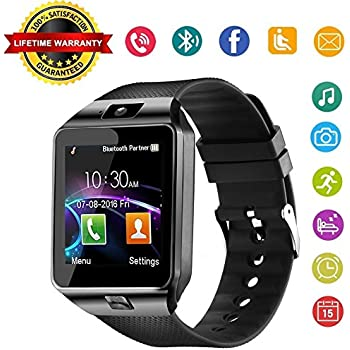 Amazon.com: CanMixs Y1 Smart Watch Bluetooth Wristwatch ...