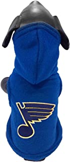 product image for All Star Dogs NHL Unisex NHL St. Louis Blues Polar Fleece Hooded Dog Sweatshirt